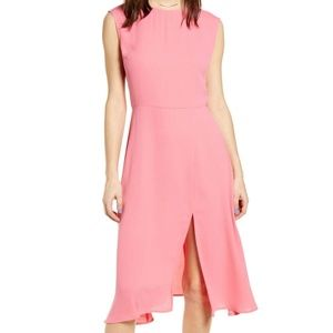 Leith chic midi dress pink lemonade